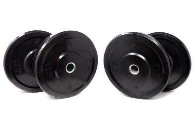 60 kg Set of Bumper Plates  - Black