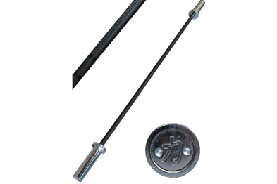 Junior weightlifting bar - 10kg - spring steel shaft - brass bushings