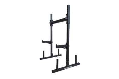 Adjustable yoke/squat and bench training station
