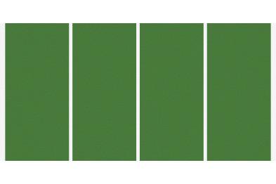 Artificial grass with 4 runninglines