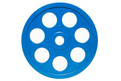 Rubber Coated Full Size Olympic Plate - 20 kg