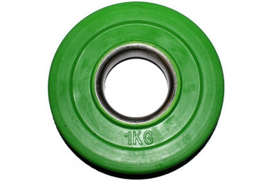 Rubber Coated Plate 1 kg - Green