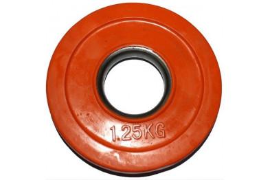 Rubber Coated Plate 1.25 kg - Orange