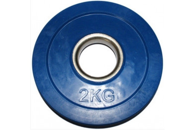 Rubber Coated Plate 2kg - Blue