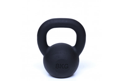 Kettlebell 8 kg - Black Powder Coated