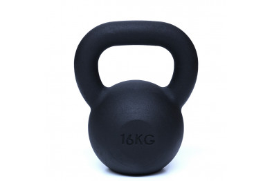 Kettlebell 16 kg  - Black Powder Coated