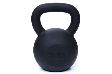 Kettlebell 28kg - Black Powder Coated