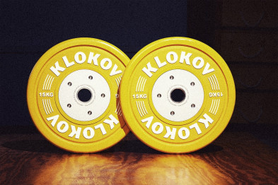 Klokov 15kg Olympic Bumper Plates, Pair