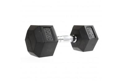 Hex dumbbell 10 kg - Rubberized