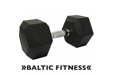 Hex dumbbell 30kg - Rubberized