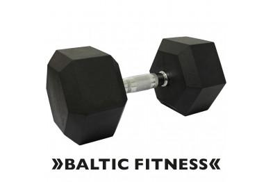 Hex dumbbell 55 kg - Rubberized