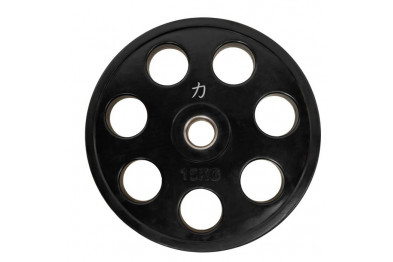 Rubber Coated Full Size Olympic Plate - 15 kg