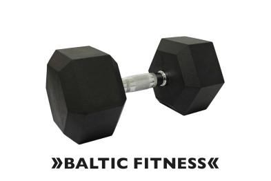Hex dumbbell 25kg - Rubberized