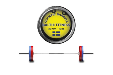 Olympic Barbell 15 Kg from Baltic Fitness