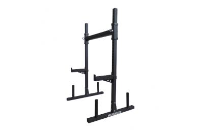 Adjustable yoke/squat and bench training station