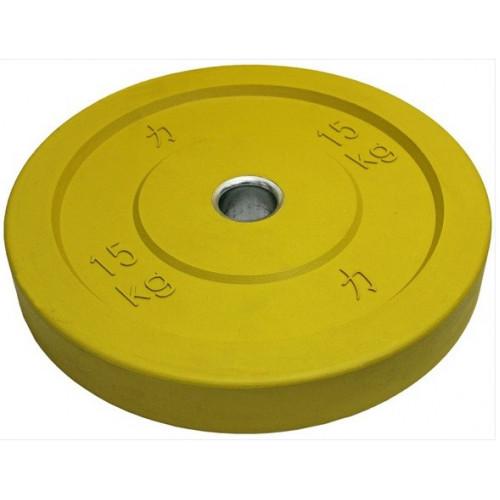 Färgade bumpervikter 5-25 kg
