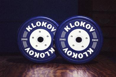 Klokov 20kg Olympic Bumper Plates, Pair