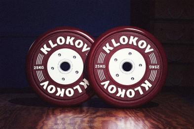 Klokov 25kg Olympic Bumper Plates, Pair