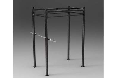 Outdoorgym with squatstand