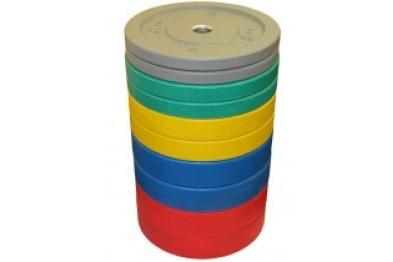 Riot 150 kg Set Bumper Plates -Coloured