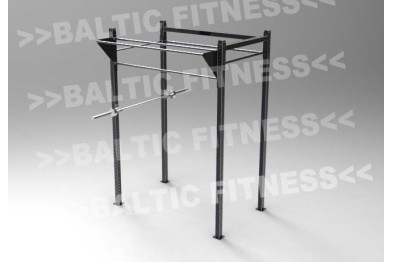 Outdoorgym with triple pullupbar