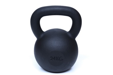 Kettlebell 24 kg - Black Powder Coated -