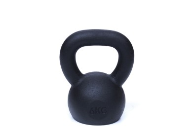 Kettlebell 6 kg - Black Powder Coated