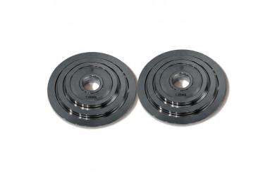 Steel Plate Set Chrome, 2 x 1.25kg, 2 x 2.5kg, 2 x 5kg